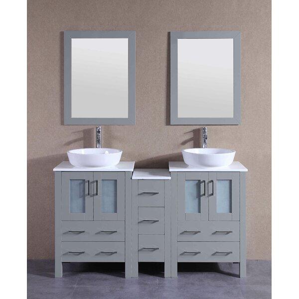 Alexa 60 Double Bathroom Vanity Set with Mirror by Bosconi