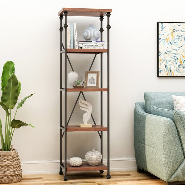Sarina 4 Shelf Etagere Bookcase by 17 Stories