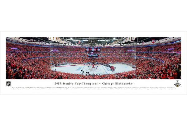 NHL 2015 Stanley Cup Champions - Chicago Blackhawks by Christopher Gjevre Photographic Print by Blakeway Worldwide Panoramas, Inc