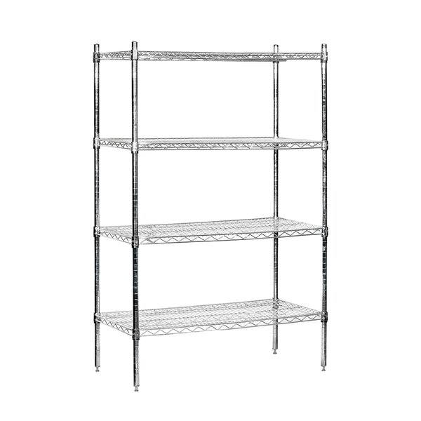 Wire Stationary 4 Shelf Shelving Unit by Salsbury Industries