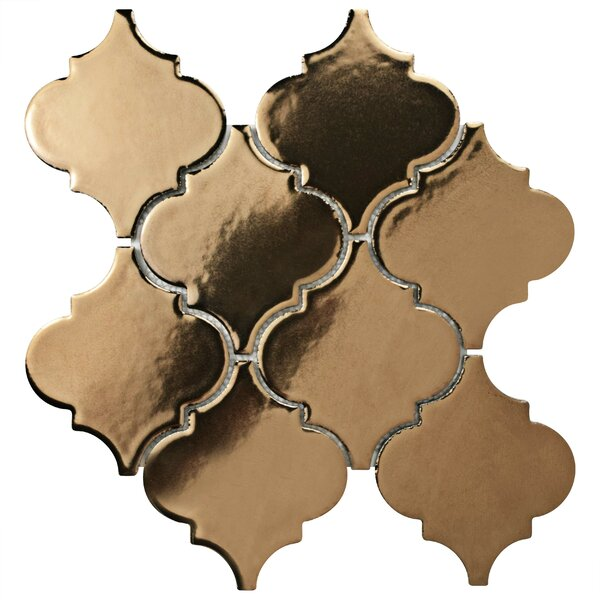 Essentia 4.9 x 5.2 Porcelain Mosaic Tile in Burnished Bronze by EliteTile