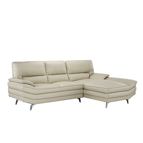 Ringwood Leather Sectional by Orren Ellis