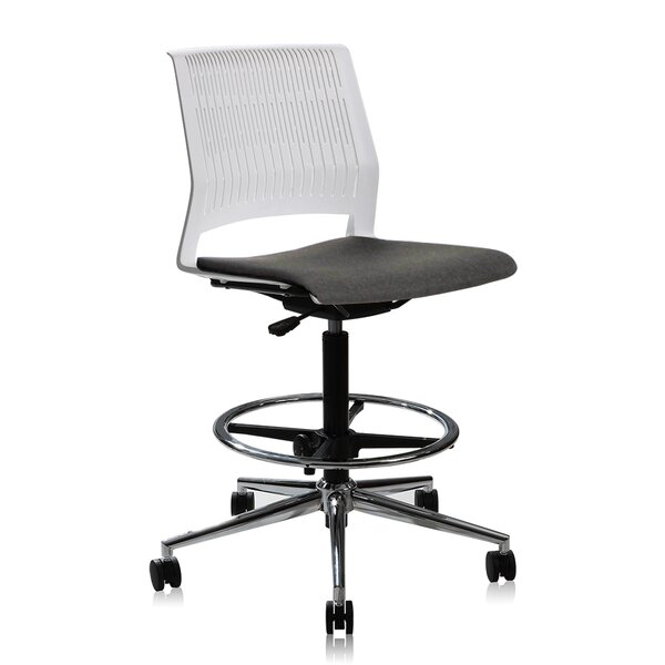 Montiel Height Adjustable High Drafting Chair by E