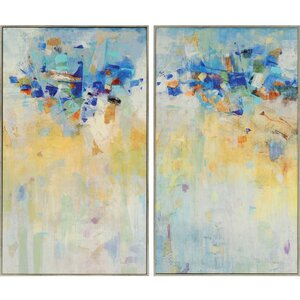 'Meeting Place' 2 Piece Framed Painting Print Plaque Set (Set of 2) by Brayden Studio
