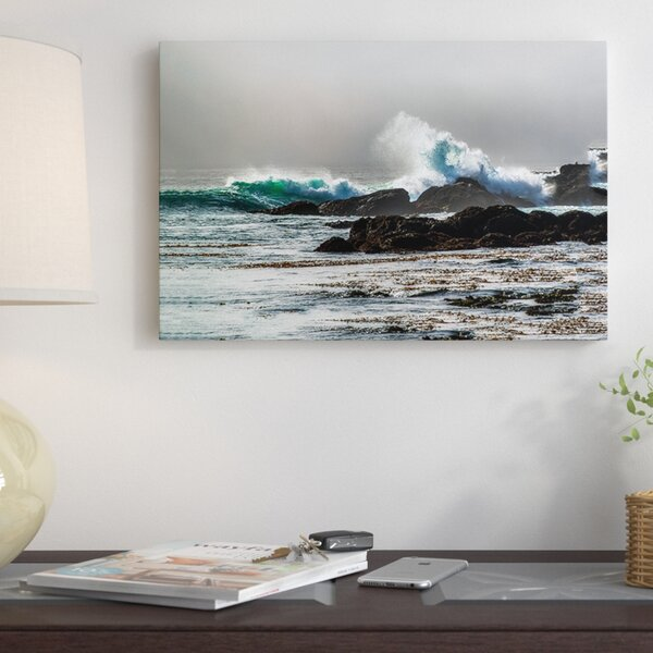 The Wave, Long Beach Photographic Print on Wrapped Canvas by Red Barrel Studio