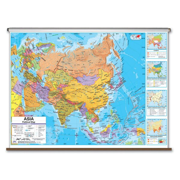 Advanced Political Map - Asia by Universal Map