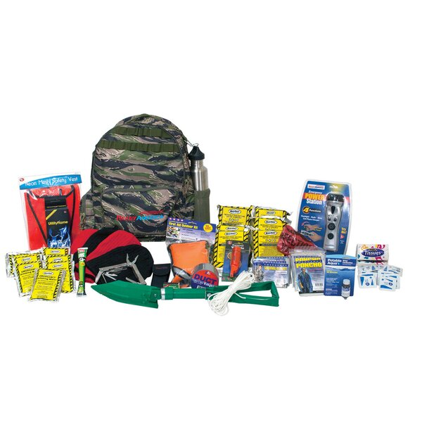 Emergency Deluxe 4 Person Outdoor Survival Kit by Ready America