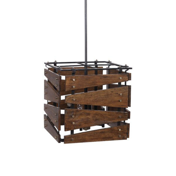 Spoffo 4 - Light Unique / Statement Rectangle / Square Chandelier By Millwood Pines