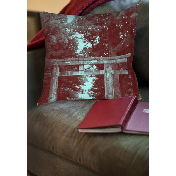 Nikko Gate Printed Throw Pillow by Manual Woodworkers & Weavers