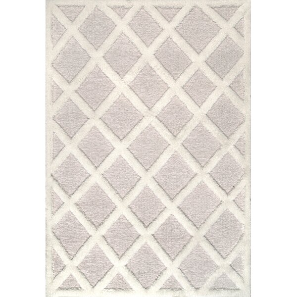Fernandes Rock Ivory/Red Area Rug by Bungalow Rose