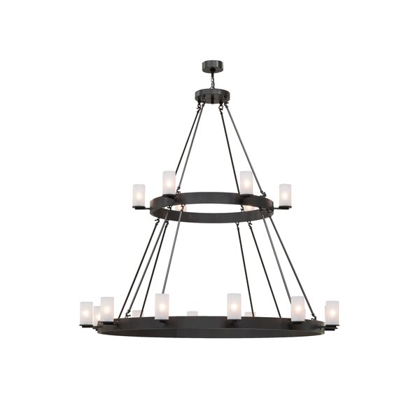 Madeley 16 - Light Unique / Statement Wagon Wheel Chandelier by Longshore Tides Longshore Tides