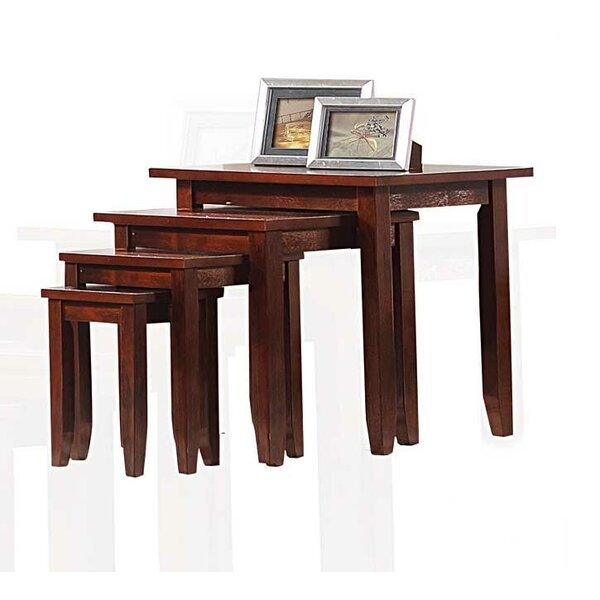 Price Sale Straus Stand 4 Piece Nesting Table