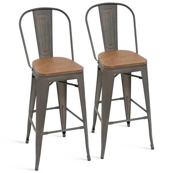 Duo 30.12 Bar Stool (Set of 2) by 17 Stories