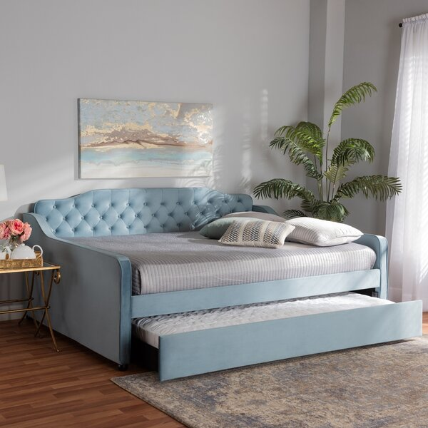 Marsboro Solid Wood Daybed with Trundle by Red Barrel Studio Red Barrel Studio