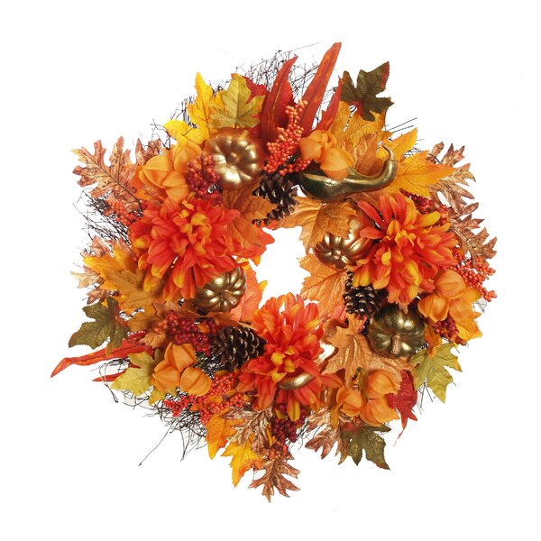 Mixed Harvest 24 Wreath by The Holiday Aisle