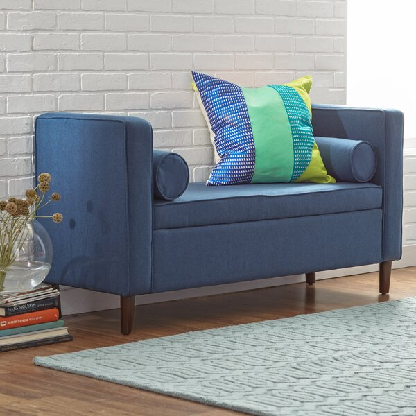 Upholstered Storage Bench by Mercury Row