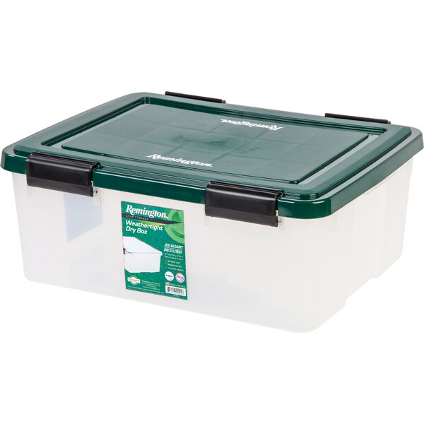 Weathertight 30 qt Plastic Storage Tote (Set of 4) by Remington