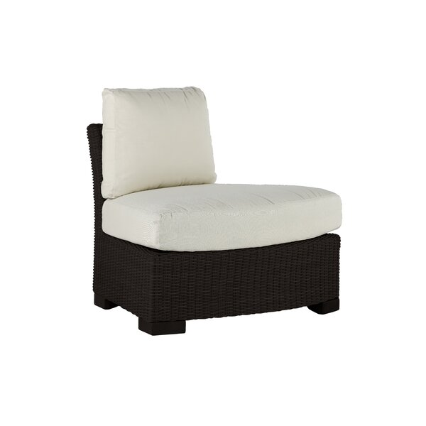 Club Woven Round Patio Chair with Cushion by Summer Classics