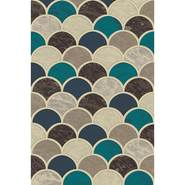 Cosper Blue/Gray Area Rug by Ebern Designs