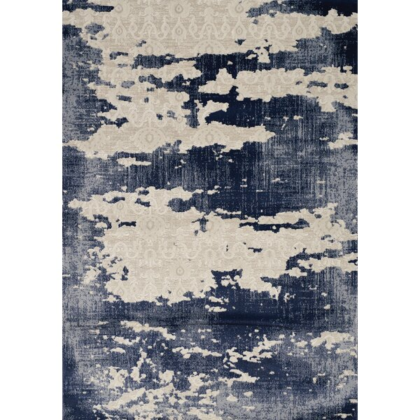 Cullerton Distress Cream/Blue Area Rug by 17 Stories