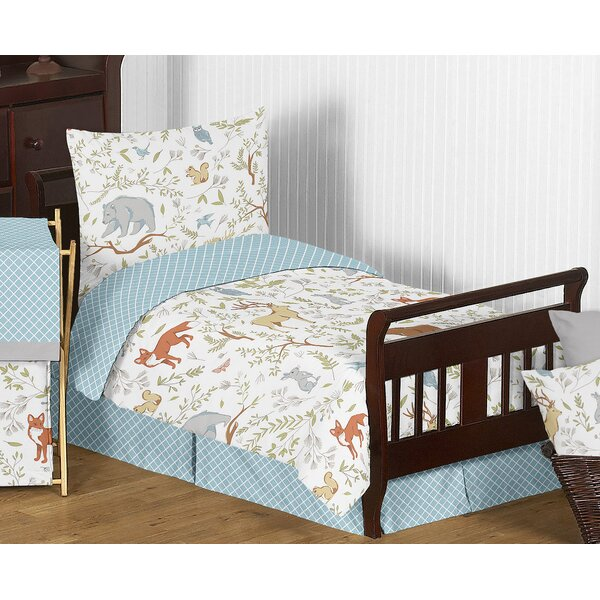 Woodland Toile 5 Piece Toddler Bedding Set by Sweet Jojo Designs