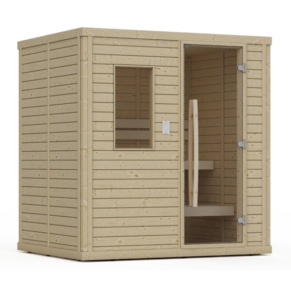 Goldstar 4 Person Traditional Steam Sauna by Premium Saunas
