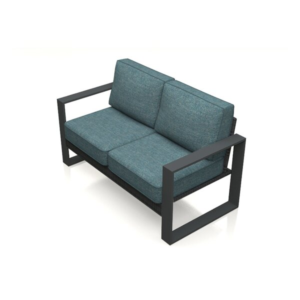 Hobson Loveseat with Cushions by Rosecliff Heights