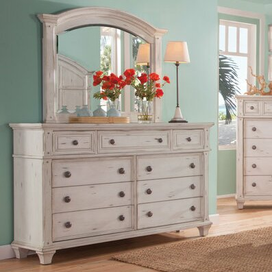 Dorinda 9 Drawer Dresser with Mirror by One Allium Way
