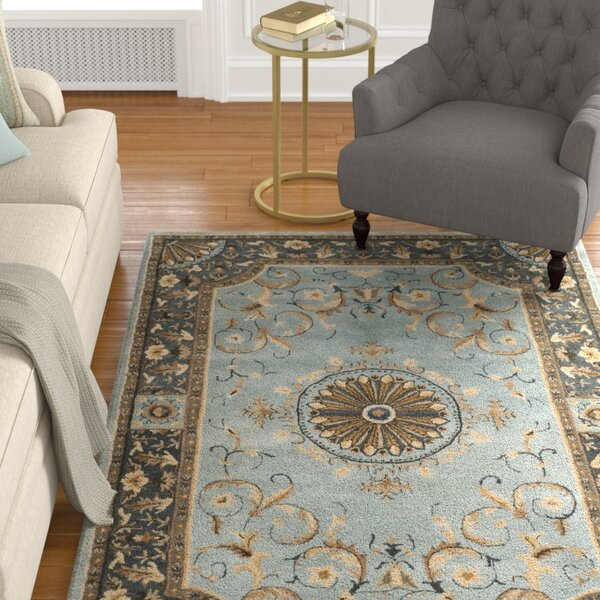 Latarra Hand Tufted Wool Blue Area Rug by Astoria Grand