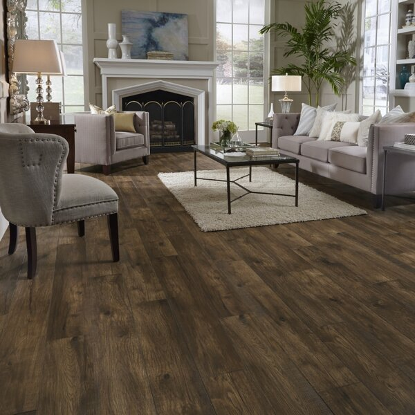 Restoration Wide Plank 8'' x 51'' x 12mm Hickory Laminate Flooring in Acorn by Mannington