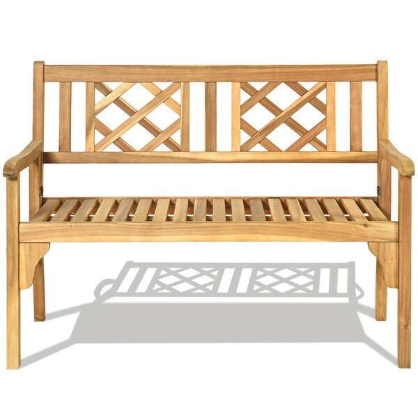 Zelaya Patio Garden Wooden Bench