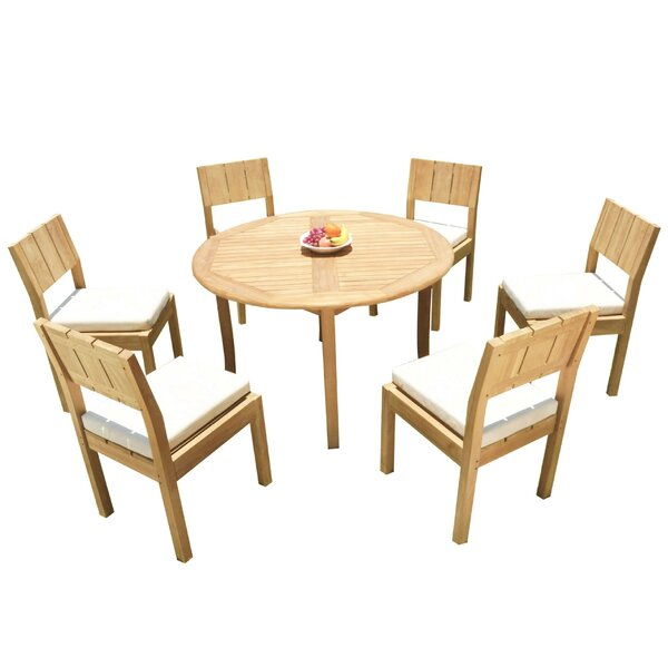 Anley 7 Piece Teak Dining Set by Rosecliff Heights