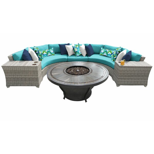 Falmouth 6 Piece Sectional Seating Group with Cushions by Sol 72 Outdoor