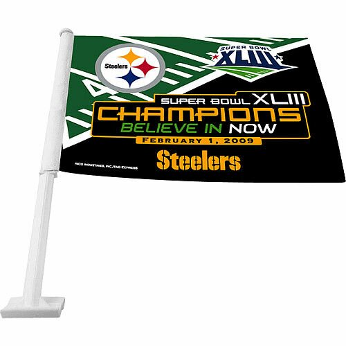 Super Bowl XLV 2-Sided Polyester 11 x 14 in. Flag by Rico Industries Inc