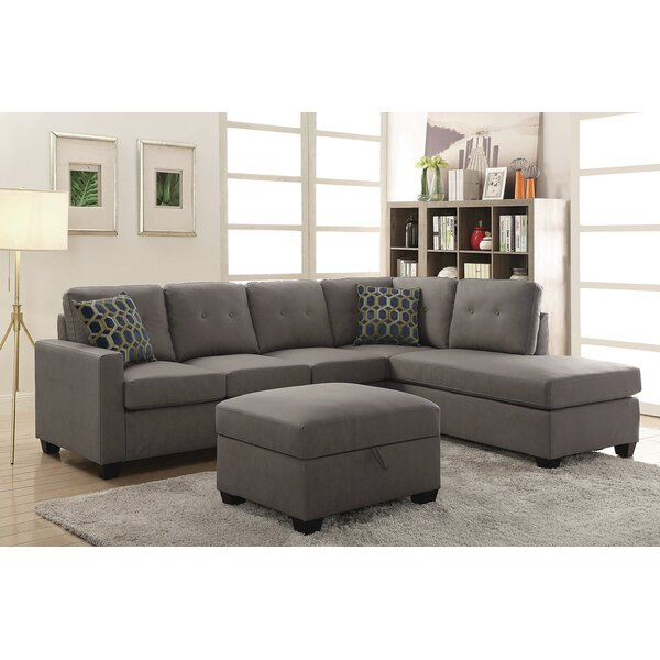 Koumarianos Reversible Sectional With Ottoman By Red Barrel Studio Purchase