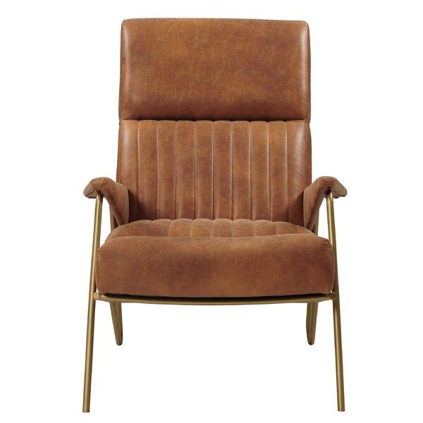 Burnes Bonded Leather Armchair by Brayden Studio