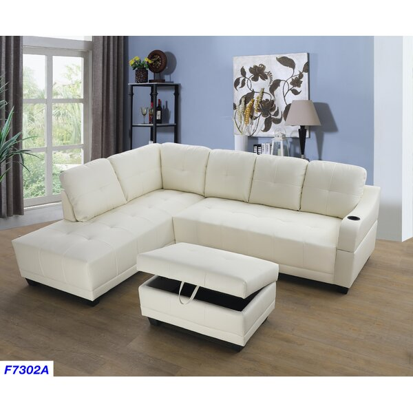Bluebell Sectional with Ottoman by Andover Mills