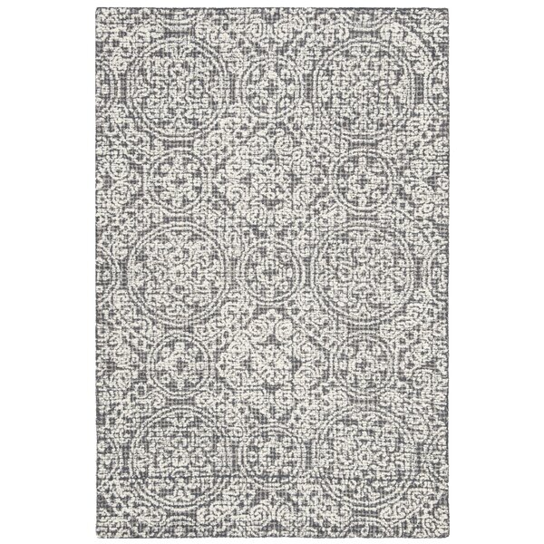 Sulema Hand-Tufted Wool Gray/Beige Area Rug by Ophelia & Co.