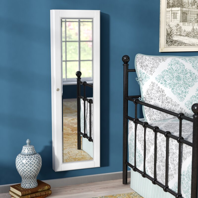 Alcott Hill Flora Wall Mounted Jewelry Armoire with Mirror ...