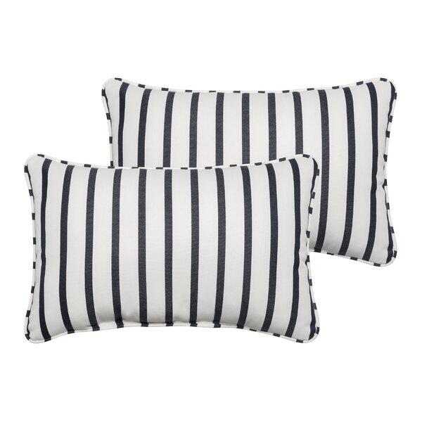Bulter Indoor/Outdoor Sunbrella Lumbar Pillow (Set of 2) by Mercury Row