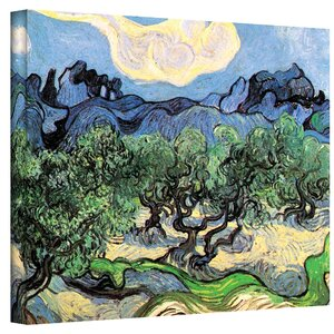 'Olive Trees' by Vincent Van Gogh Painting Print on Wrapped Canvas by ArtWall