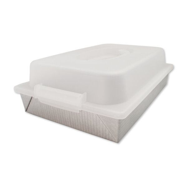 Non-Stick Rectangular Cake Pan and Lid Set by USA Pan