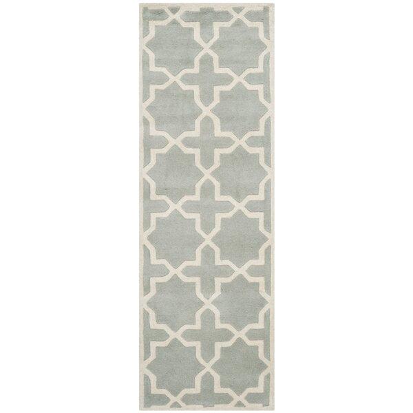 Wilkin Hand-Woven Gray Area Rug by Wrought Studio