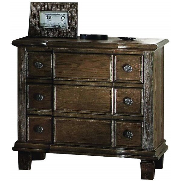 Swanley 3 Drawer Nightstand by Loon Peak