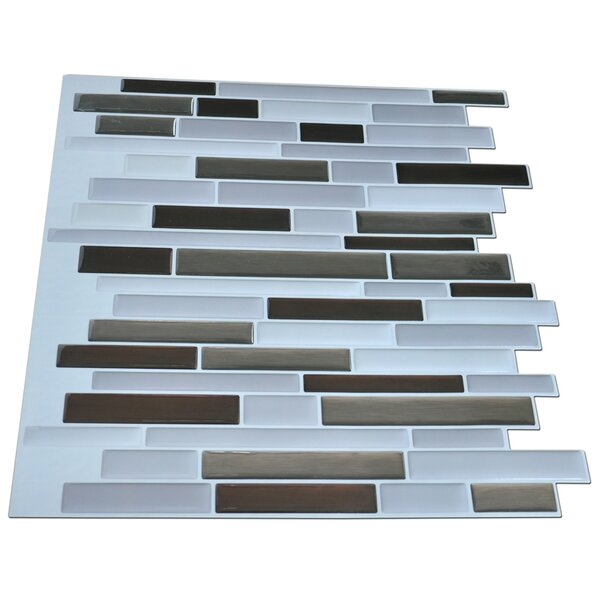 12 x 12 PVC Peel & Stick Mosaic Tile in Gray by Art3d