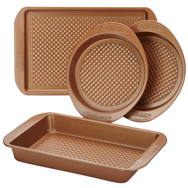 Colorvive™ 4 Piece Non-Stick Bakeware Set by Farb