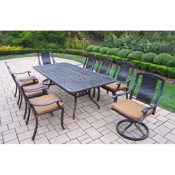 Vanguard 9 Piece Dining Set with Cushions by Oakland Living