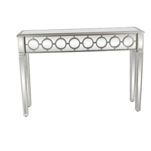 House of Hampton Barberry Modern Wood and Glass Console Table