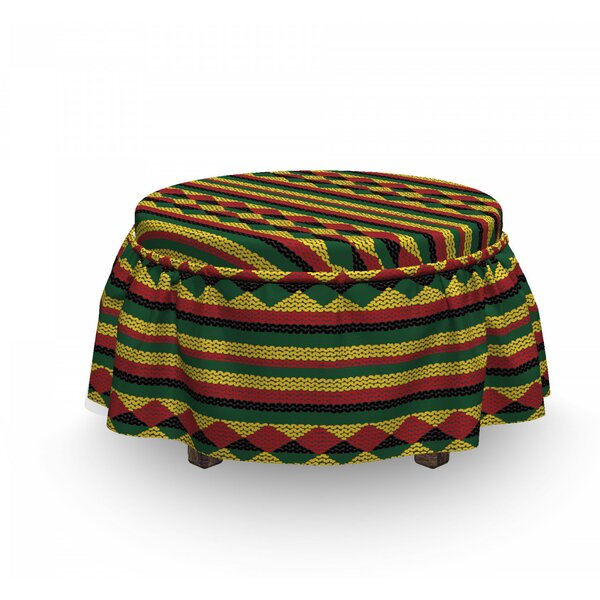 African Ottoman Slipcover (Set Of 2) By East Urban Home
