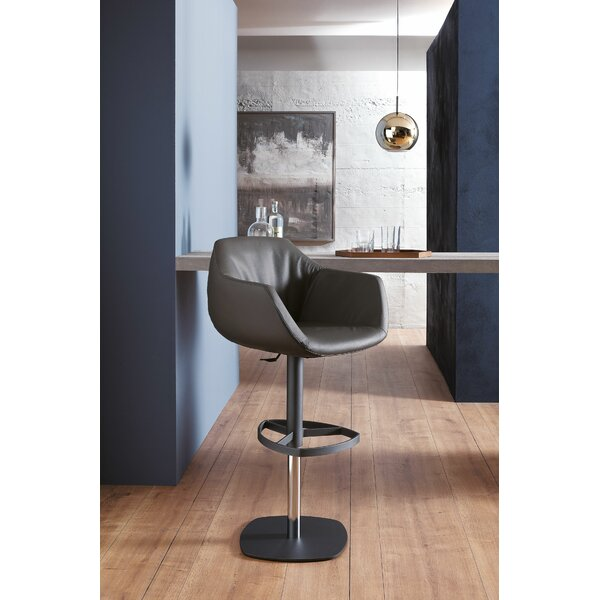 Post Adjustable Height Swivel Bar Stool by YumanMod